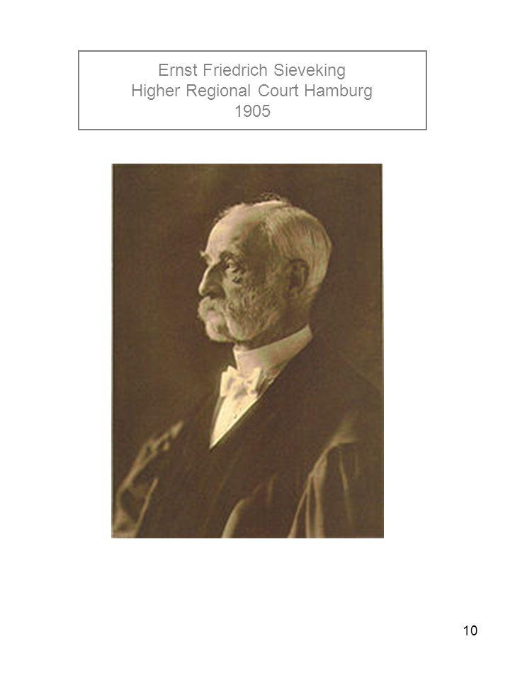 10 Ernst Friedrich Sieveking Higher Regional Court Hamburg 1905