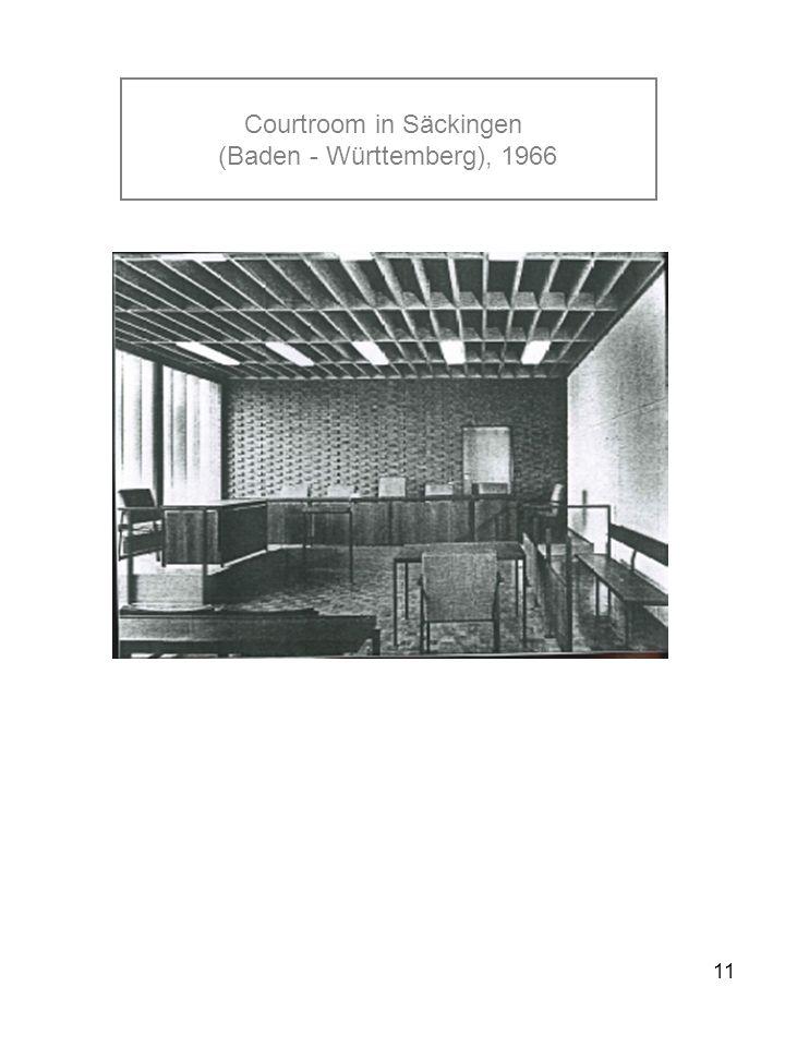 11 Courtroom in Säckingen (Baden - Württemberg), 1966