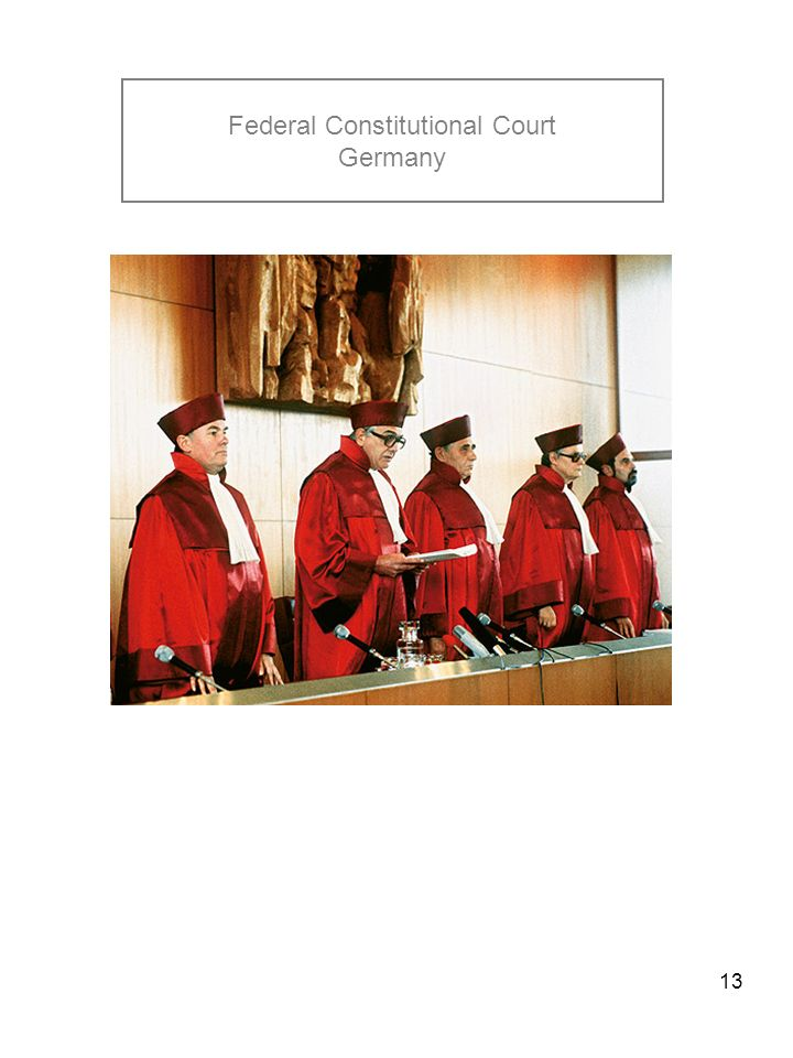 13 Federal Constitutional Court Germany