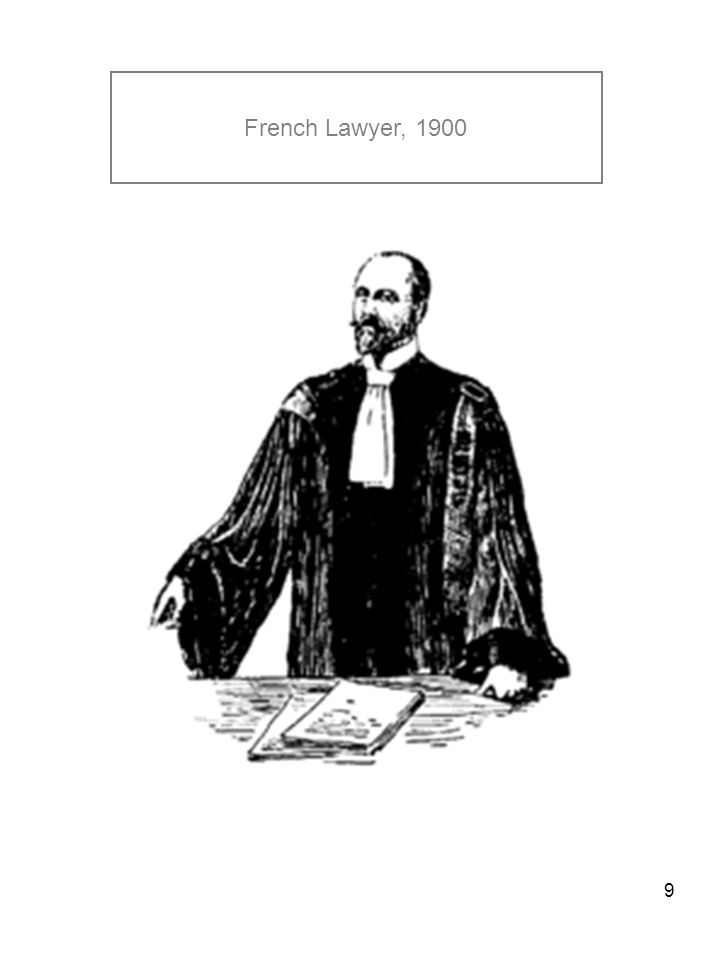 9 French Lawyer, 1900