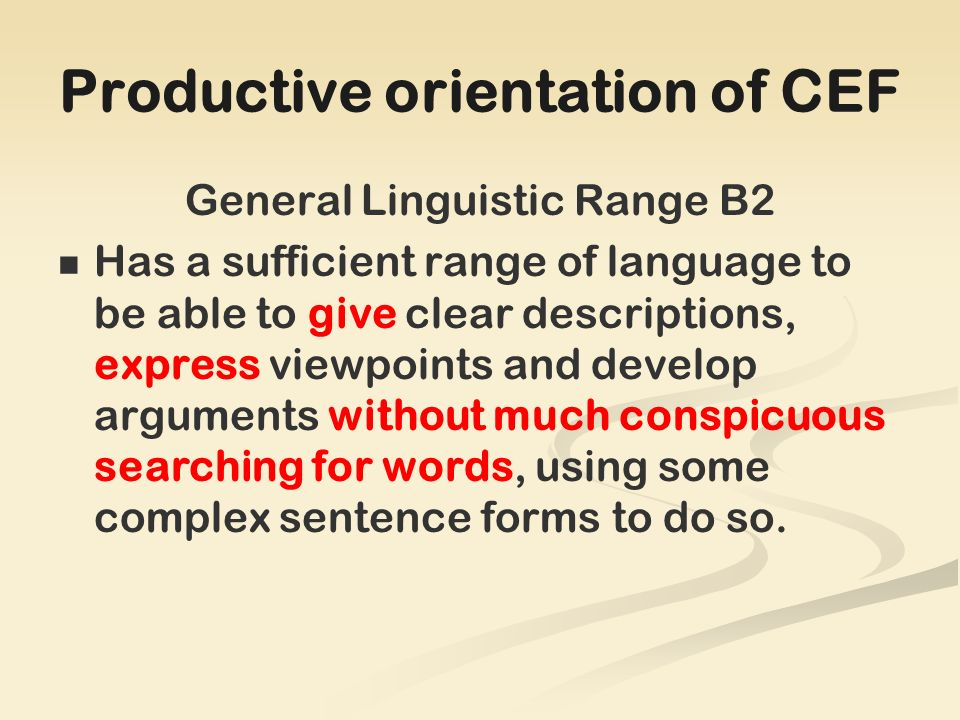 In retrospect Advantages of selecting the GramVoc paper: The knowledge of language underlies all other skills in the examination GramVoc project as pilot for the rest of the Euro papers.