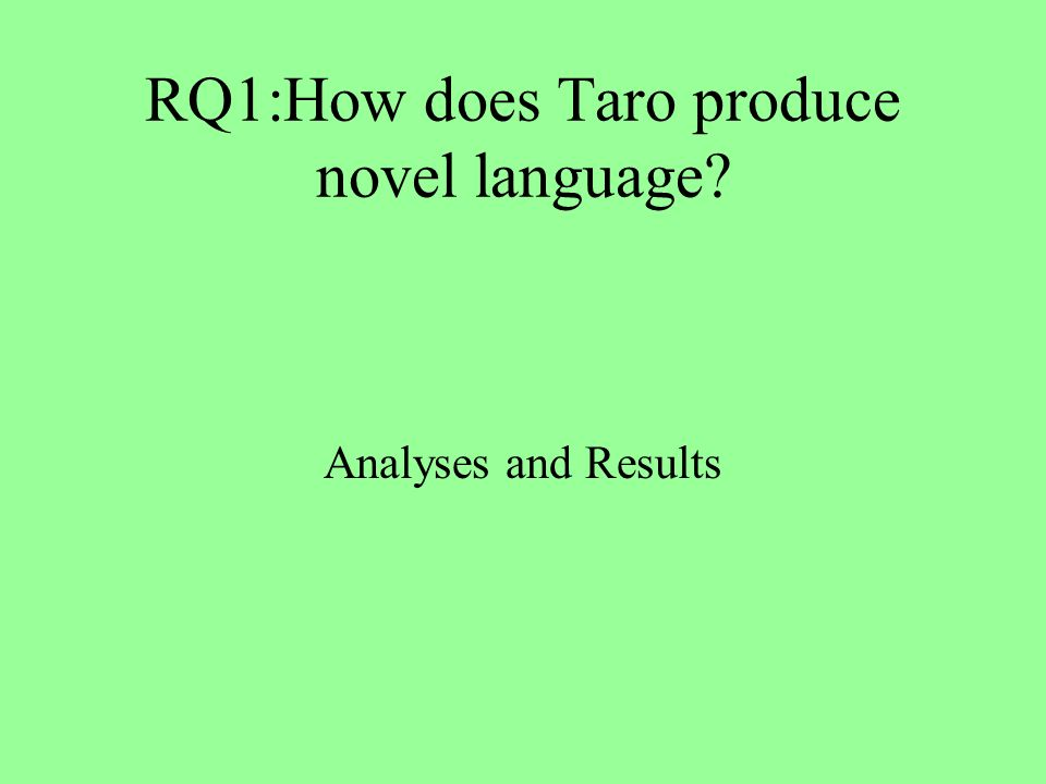 RQ1:How does Taro produce novel language Analyses and Results