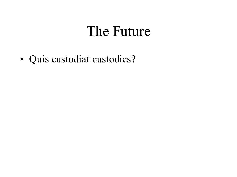 The Future Quis custodiat custodies?