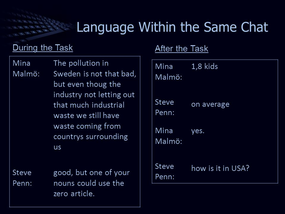Language Within the Same Chat Mina Malmö: The pollution in Sweden is not that bad, but even thoug the industry not letting out that much industrial waste we still have waste coming from countrys surrounding us Steve Penn: good, but one of your nouns could use the zero article.