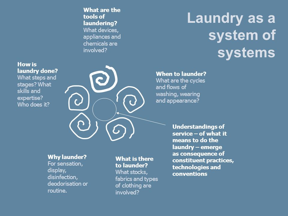 What is there to launder. What stocks, fabrics and types of clothing are involved.