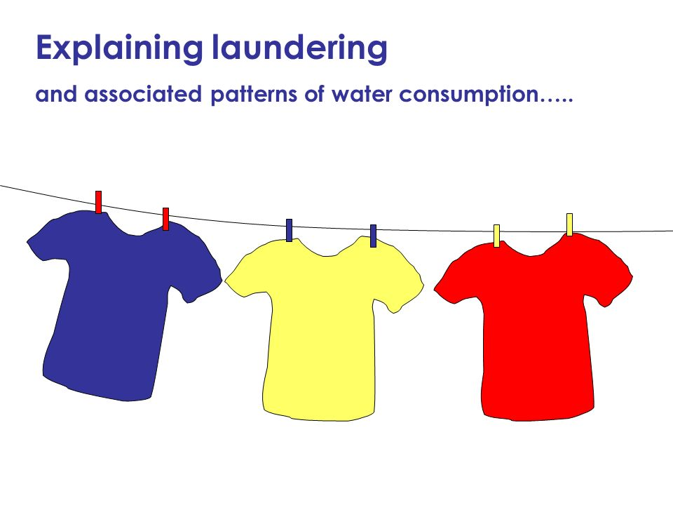 Explaining laundering and associated patterns of water consumption…..
