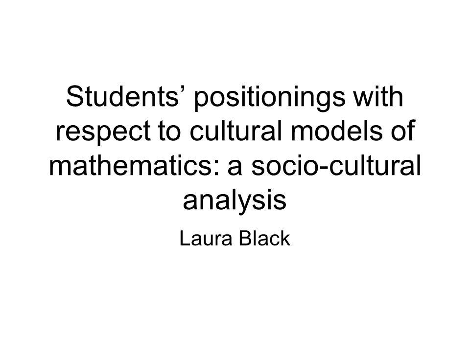 Doing maths involves understanding J: What makes YOU good at Maths.