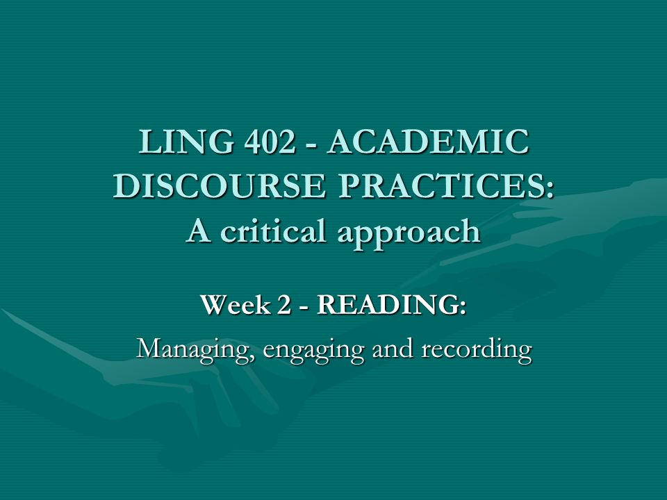 Outline of todays session 1.Additions to the course website from last weeks work 2.Practicalities of keeping records of reading –Ways of keeping notes –Recording and retrieving bibliographic details 3.Why read.