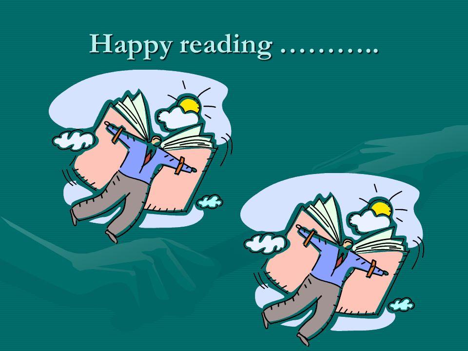 Happy reading ………..