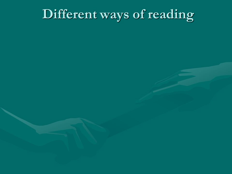 Different ways of reading