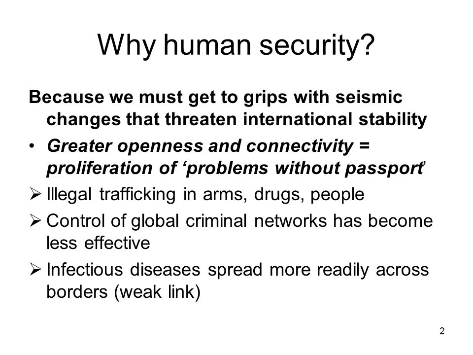 2 Why human security.
