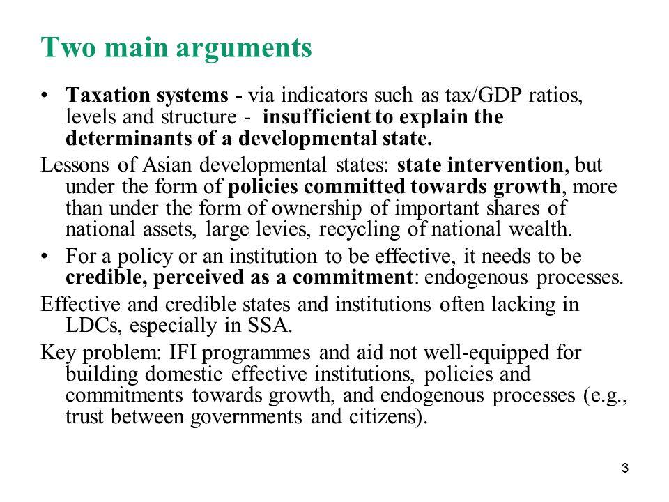 24 Aid dependence: weakening of institutions.