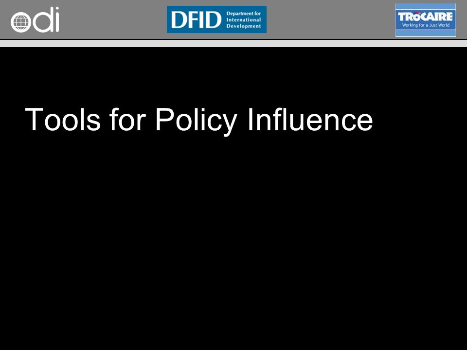 RAPID Programme Tools for Policy Influence