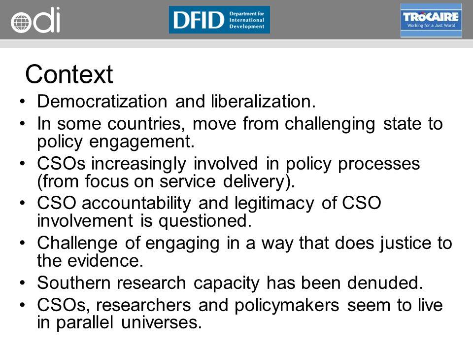 RAPID Programme Context Democratization and liberalization.