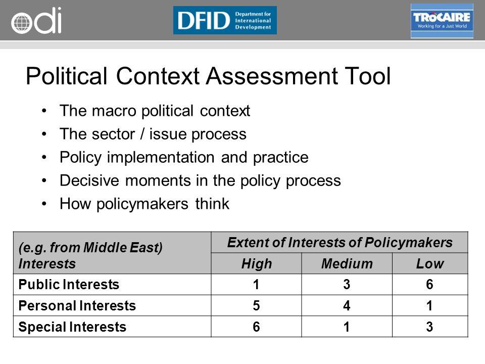 RAPID Programme Political Context Assessment Tool (e.g.