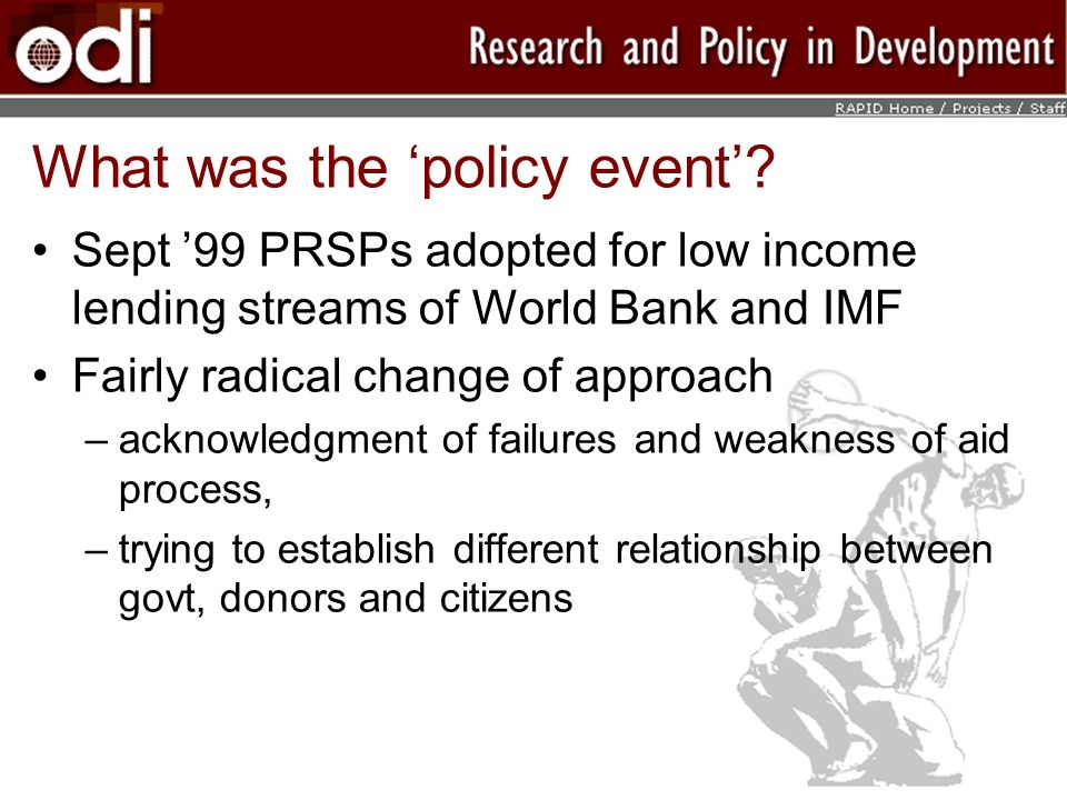 What was the policy event.