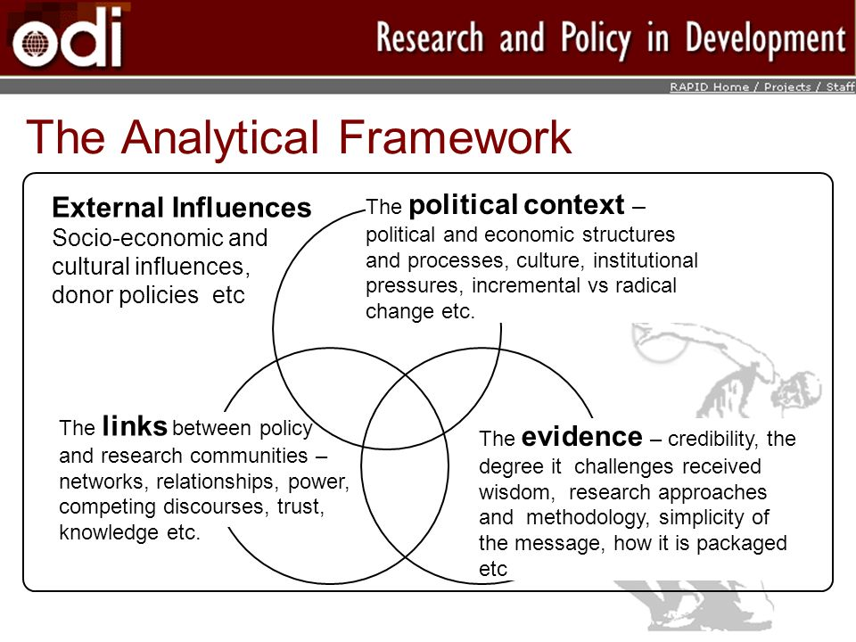 The Analytical Framework The political context – political and economic structures and processes, culture, institutional pressures, incremental vs radical change etc.