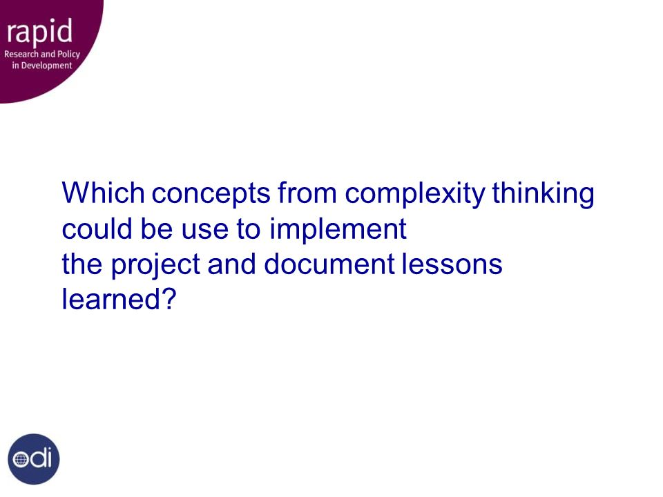 What do specific complexity concepts suggest.