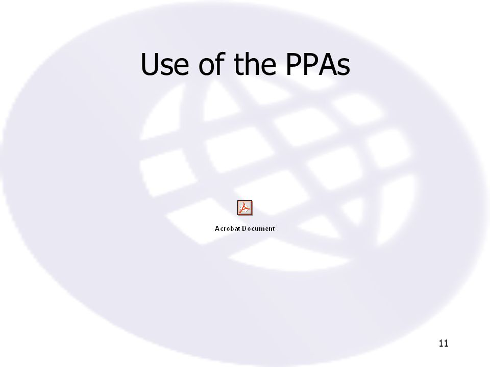 11 Use of the PPAs