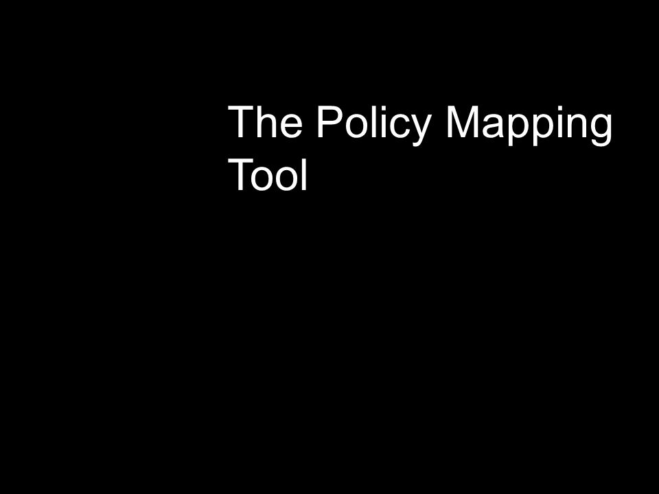 The Policy Mapping Tool