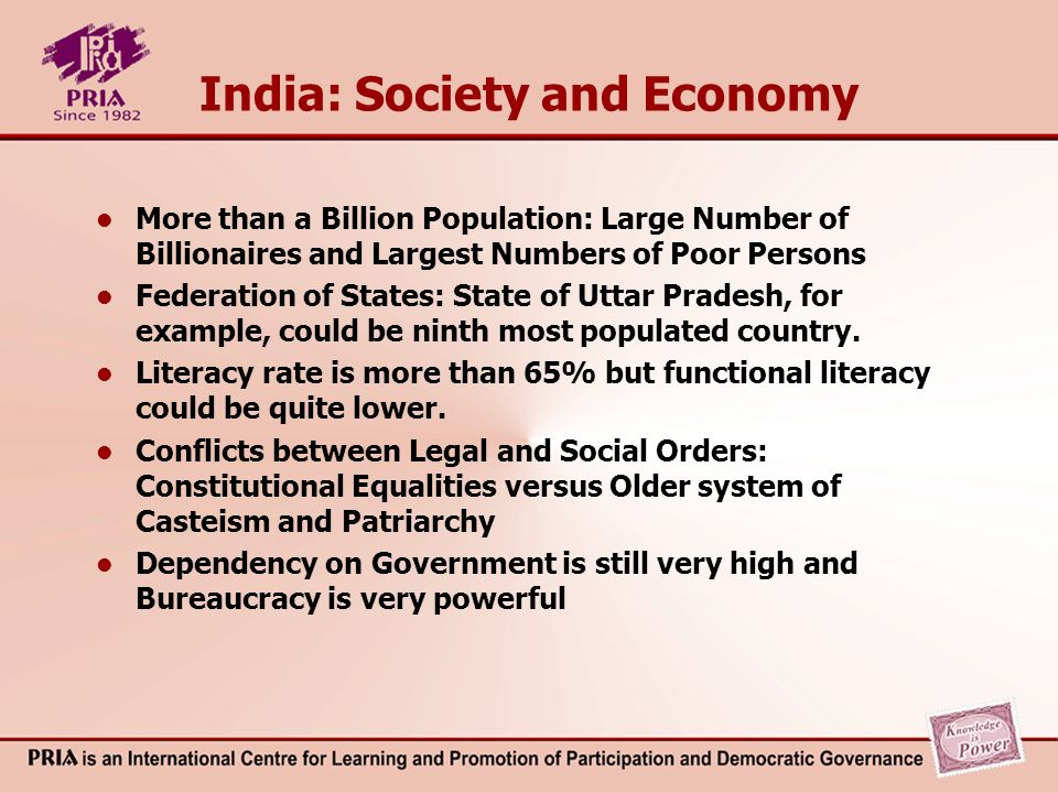 India: Constitutional Governance National (Union)Provincial (State)Local (District) Legislature (No.