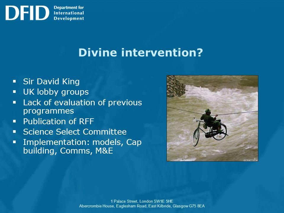 1 Palace Street, London SW1E 5HE Abercrombie House, Eaglesham Road, East Kilbride, Glasgow G75 8EA Divine intervention? Sir David King UK lobby groups
