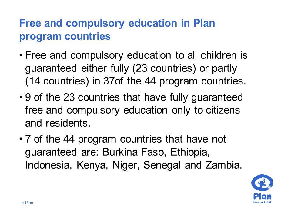 © Plan User fees in Plan program countries