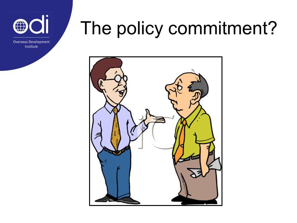 The policy commitment?