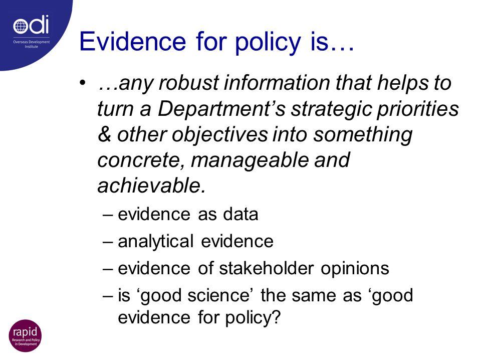 Why do we need evidence & analysis.