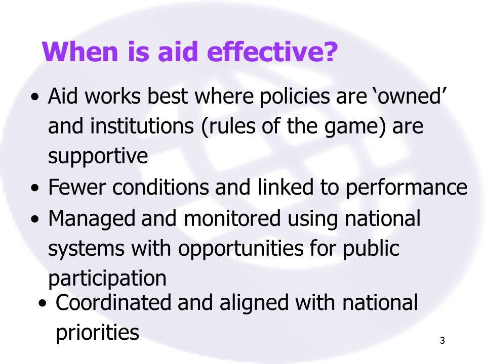 3 When is aid effective.