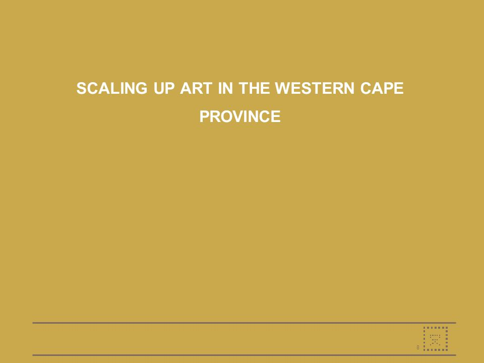8 SCALING UP ART IN THE WESTERN CAPE PROVINCE