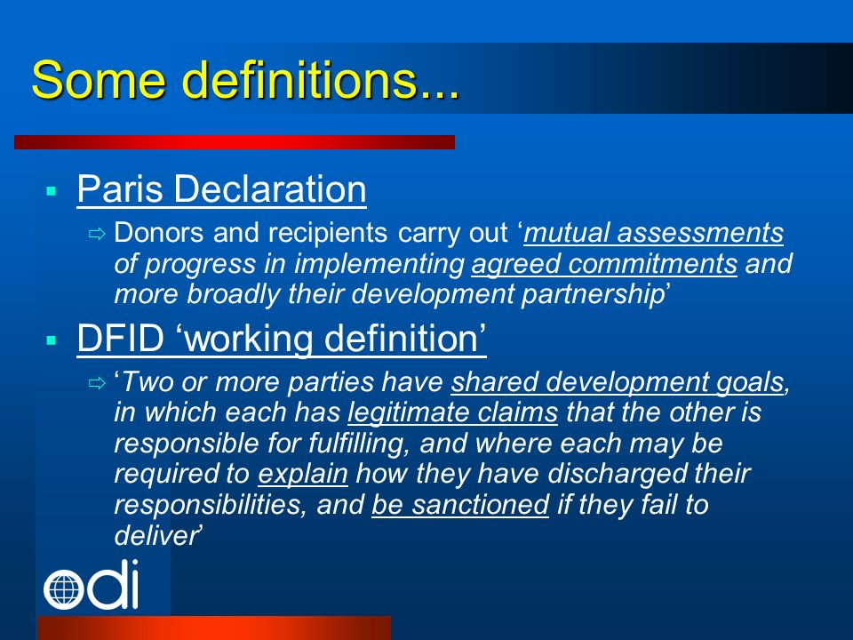 Some definitions...