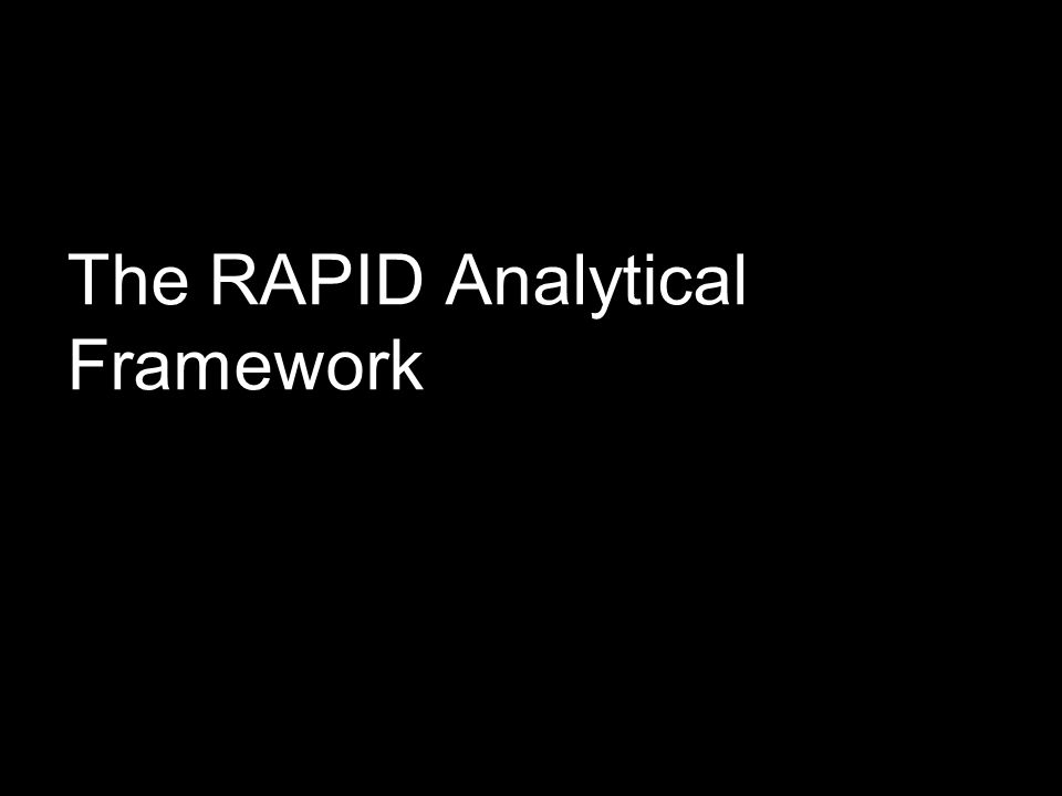The RAPID Analytical Framework