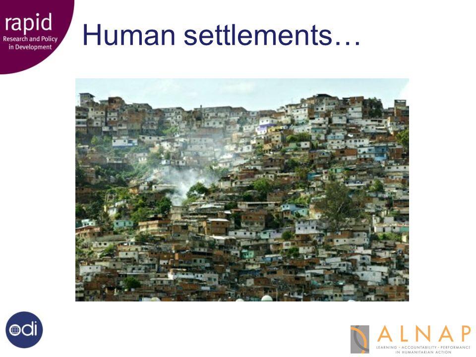 Human settlements…