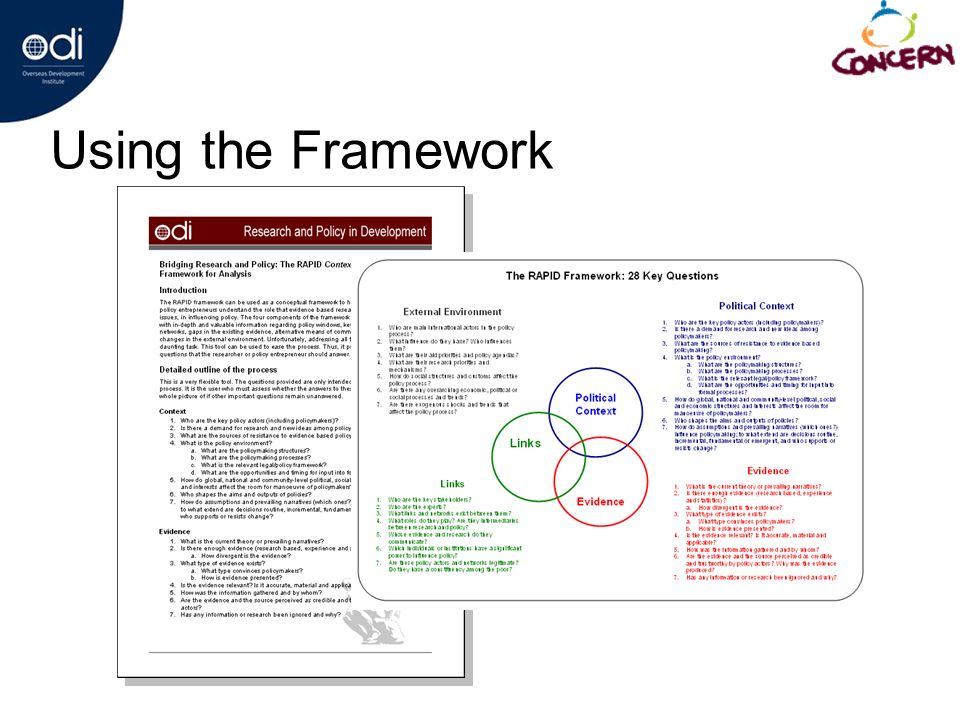 Using the Framework