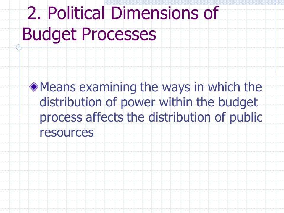 unequal power relations may be expressed by: Inclusion/exclusion/proximity of different social groups to the formal decision-making process Norms and values embedded in priorities and assumptions contained in the process, structure and content of the budget Dominant norms and assumptions about expertise and knowledge (mystification)