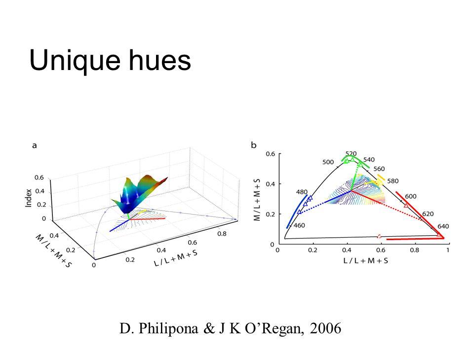 Unique hues D. Philipona & J K ORegan, 2006