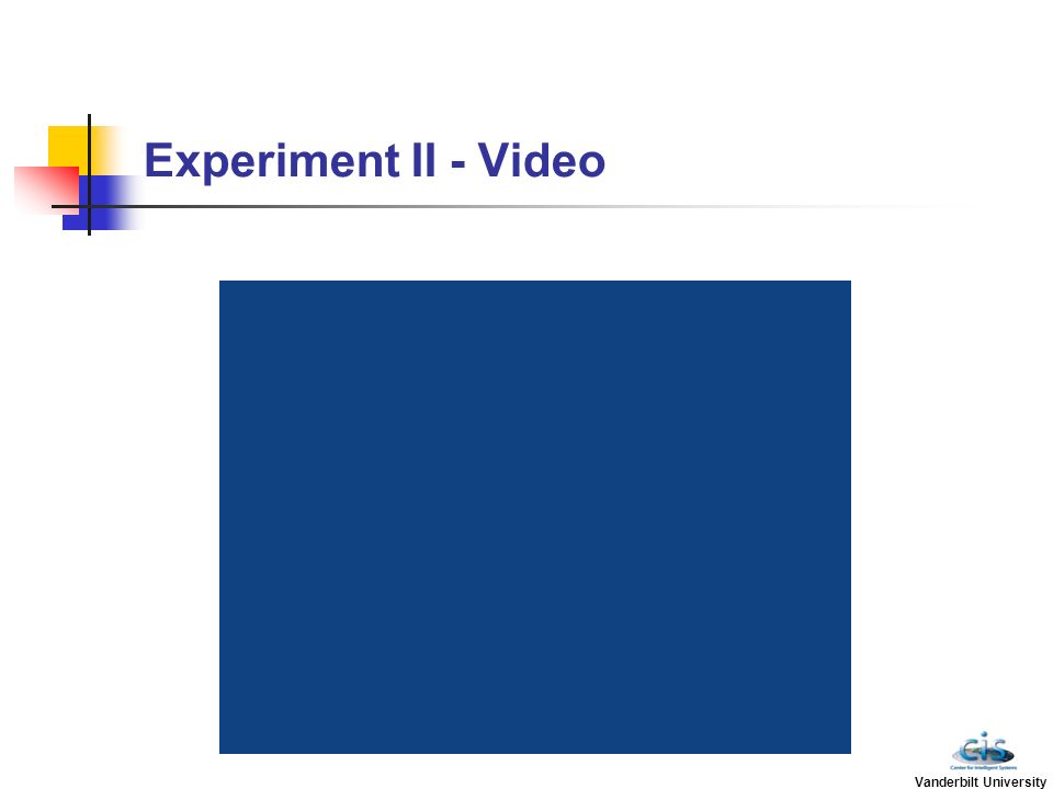 Experiment II - Video Vanderbilt University