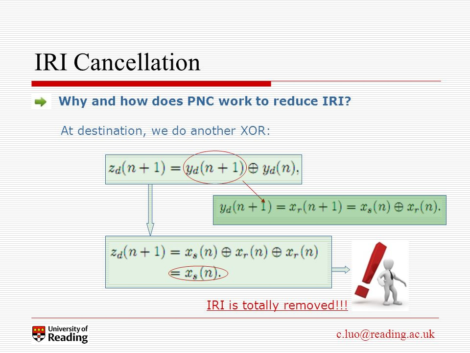 c.luo@reading.ac.uk IRI Cancellation Why and how does PNC work to reduce IRI.