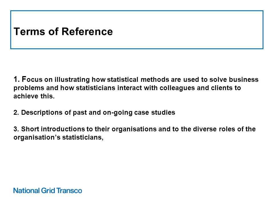Terms of Reference 1.