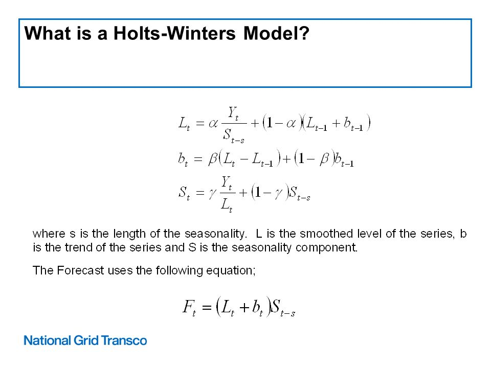 What is a Holts-Winters Model