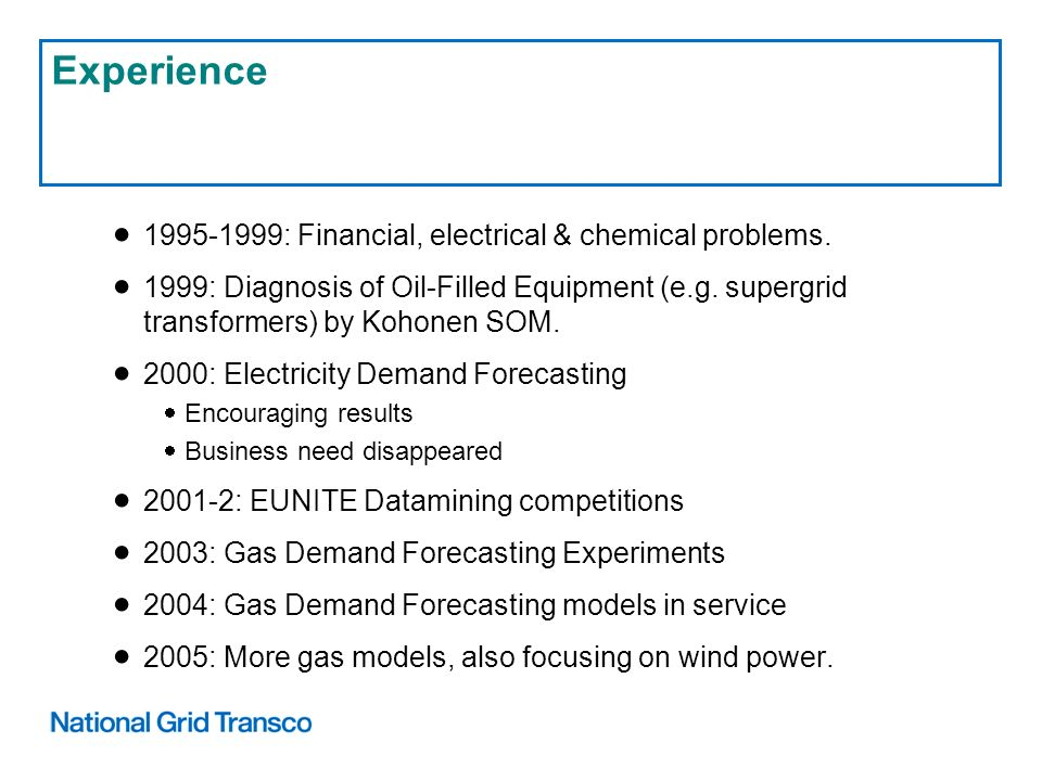 1995-1999: Financial, electrical & chemical problems.