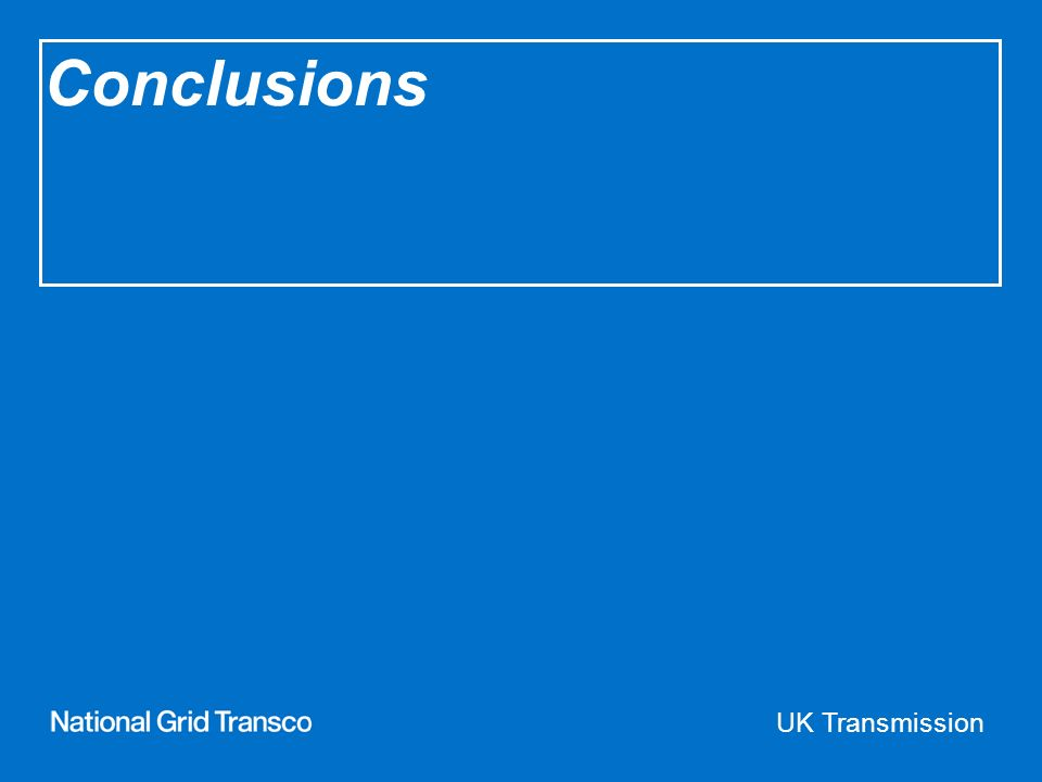 UK Transmission Conclusions