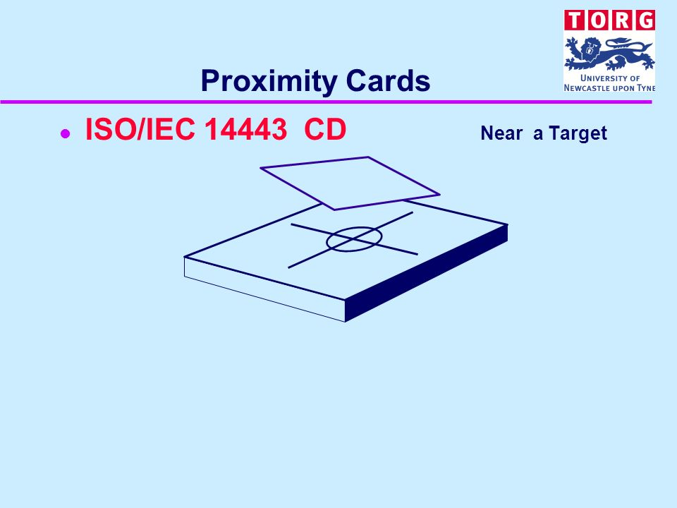 Proximity Cards l ISO/IEC 14443 CD Near a Target