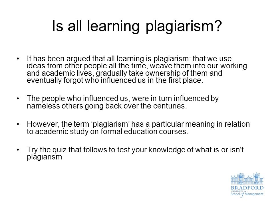 Is all learning plagiarism.
