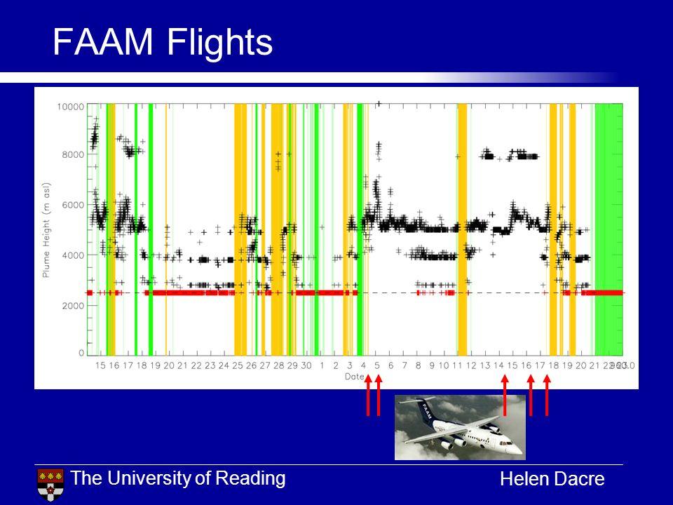 The University of Reading Helen Dacre FAAM Flights