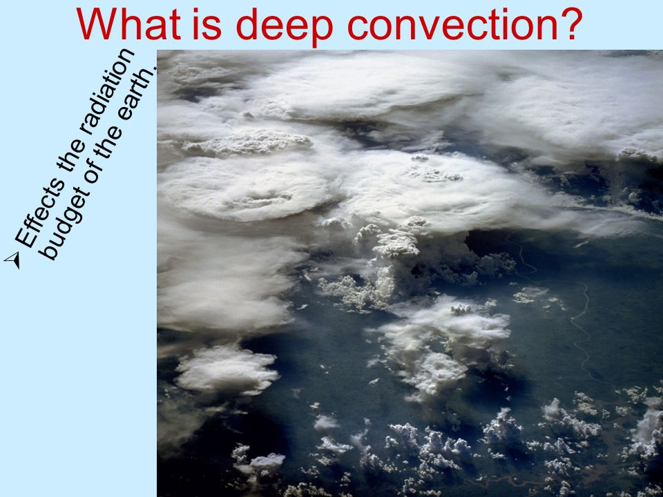 Effects the radiation budget of the earth. What is deep convection?