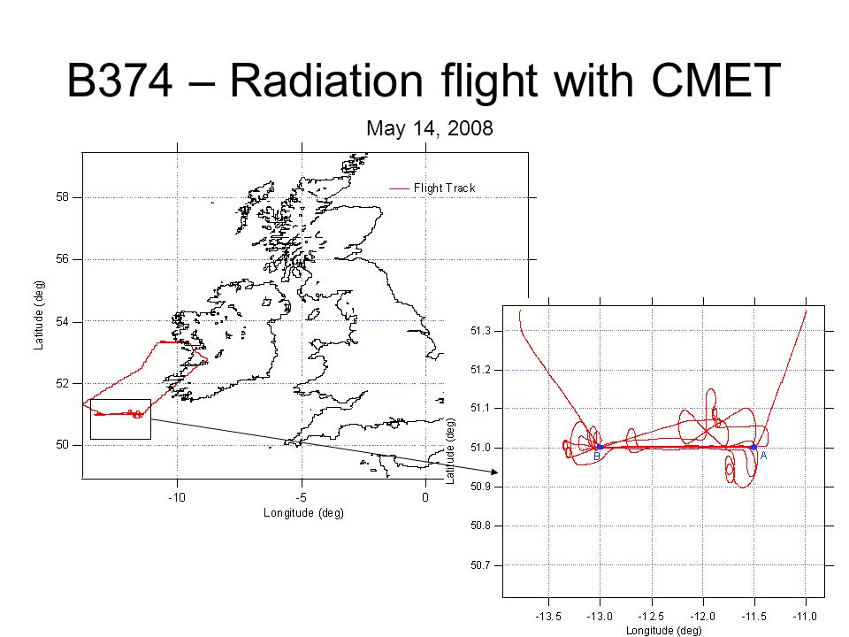B374 – Radiation flight with CMET May 14, 2008