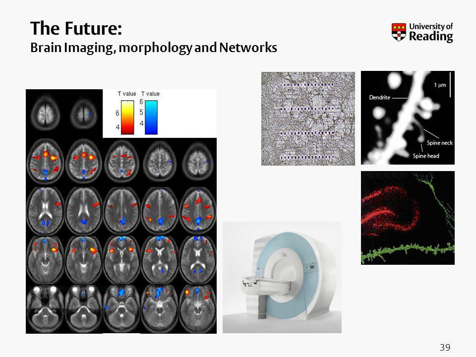 39 The Future: Brain Imaging, morphology and Networks