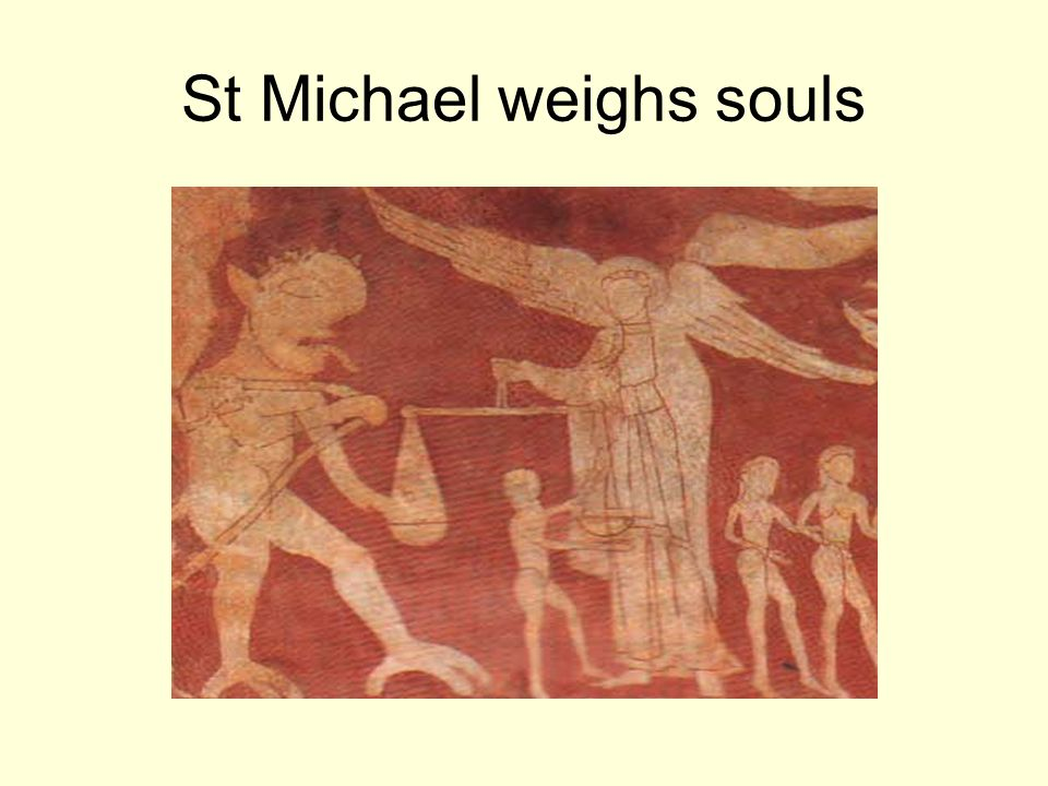 St Michael weighs souls